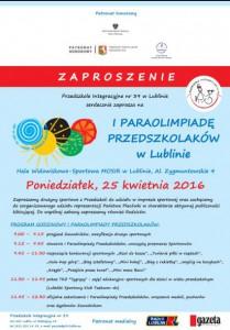 Plakat Paraolimpiady - zaproszenie