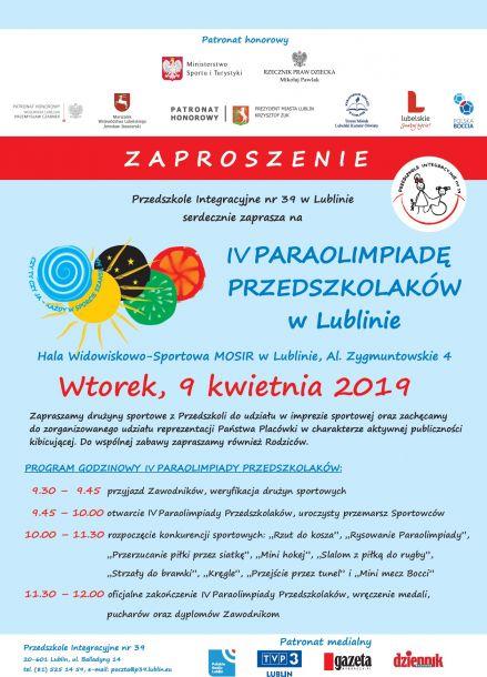 IV Paraolipiada Przedszkolaków